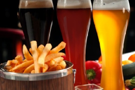 Image result for fries and beer