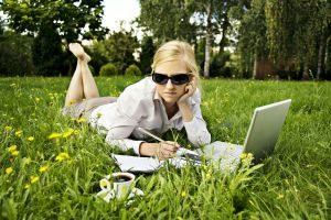 Swebinar in the grass