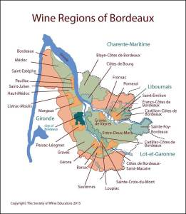 Map of Bordeaux via The Society of Wine Educators