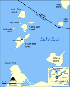 Map of the Bass Islands by Norman Einstein, via Wikimedia Commons