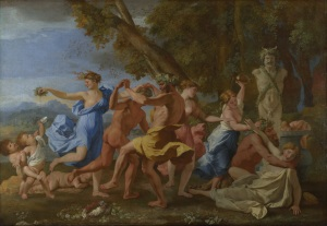 Bacchanal before a Statue of Pan by Nicolas Poussin (c. 1633, National Gallery London)