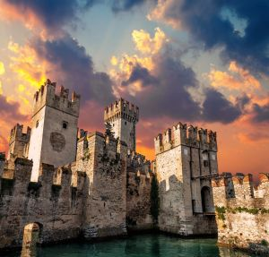 Scaliger Castle in the town of Sirmione