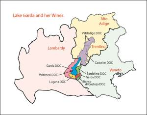 Lake Garda and her wines maps