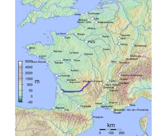 Map of the Dordogne River by Boerkevitz, via Wikimedia Commons