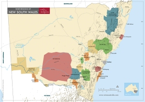 Map of New South Wales via Wine Australia