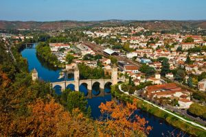 The Valentre Bridge over the Lot River (Cahors)