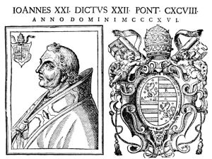 1th Century Engraving of Pope John XXII (public domain)