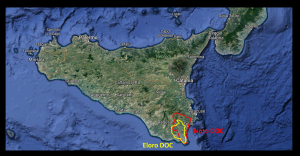Map of Sicily via Google Maps