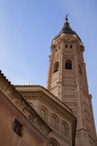 Detail of the Santa Maria Church in Calatayud